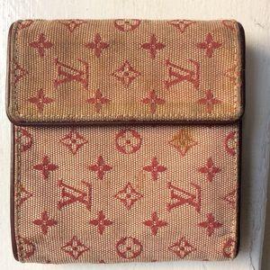 Authentic Louis Vuitton Mini Lin Monogram Wallet